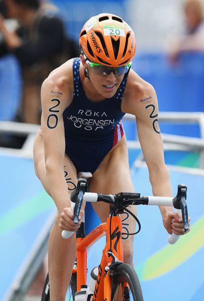 Gwen Jorgensen Photos - Gwen Jorgensen of the United States rides during the Women's Triathlon on Day 15 of the Rio 2016 Olympic Games at Fort Copacabana on August 20, 2016 in Rio de Janeiro, Brazil. - Triathlon - Olympics: Day 15