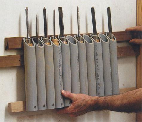 idea for organizing woodturning tools