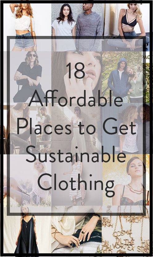 You too can wear ethical clothing! Here are the most affordable ethical and sustainable fashion from brands and online stores.