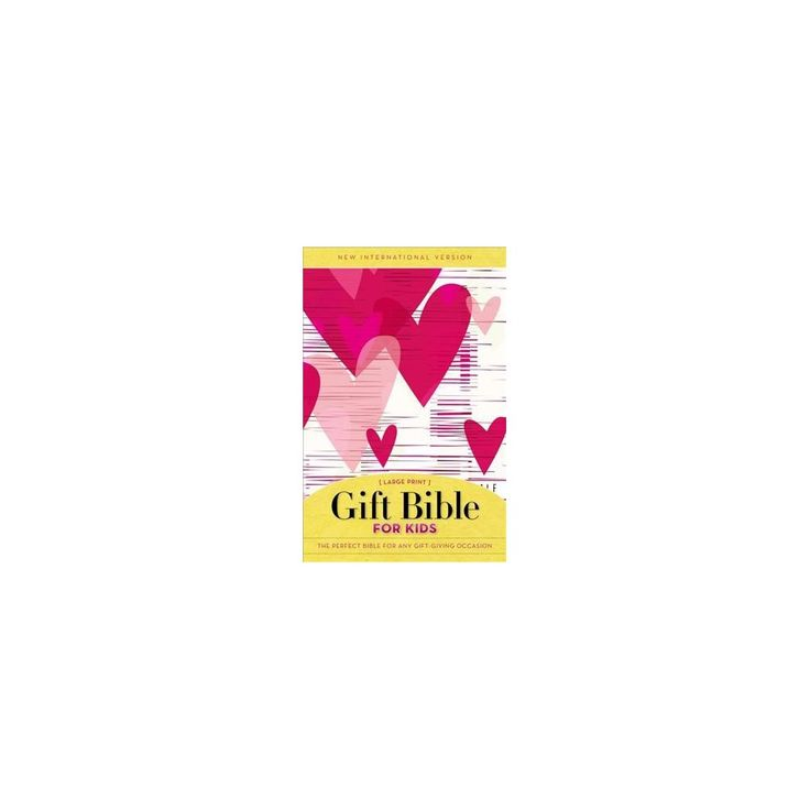 Holy Bible : Niv Gift Bible for Kids, Pink (Large Print) (Paperback)