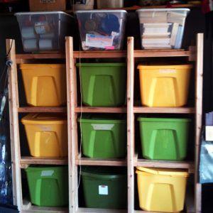 Shelves For Large Storage Bins