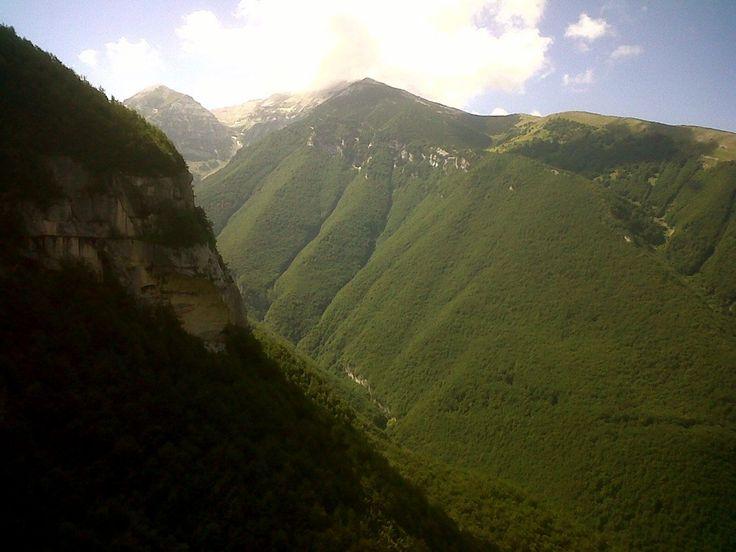 Splendida visone del Canyon dell'Orfento , Abruzzo