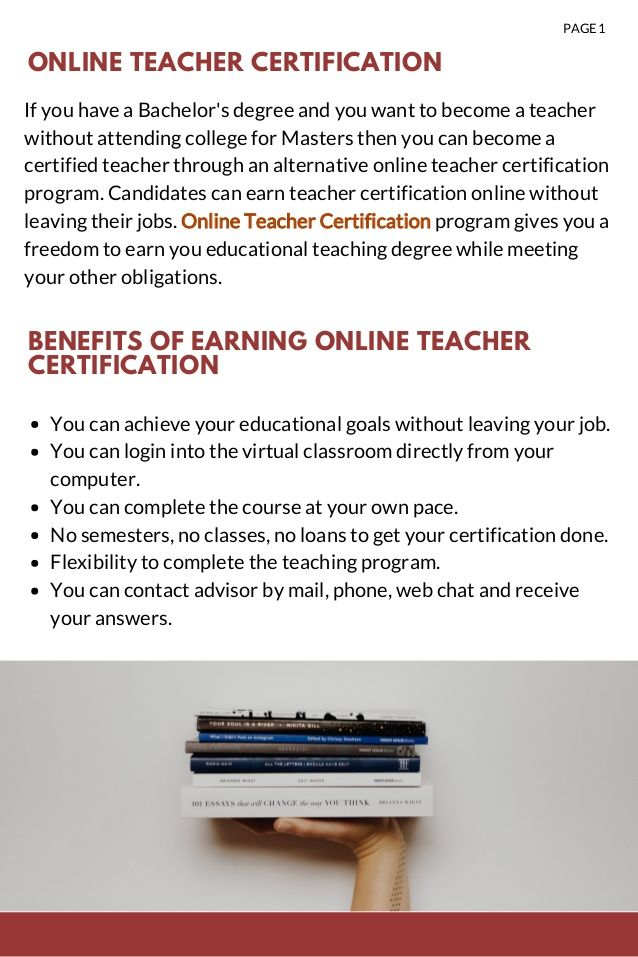 Get An Online Teacher Certification In Less Than A Year And Become A