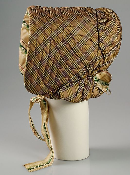 Quilted bonnet, ca. 1845