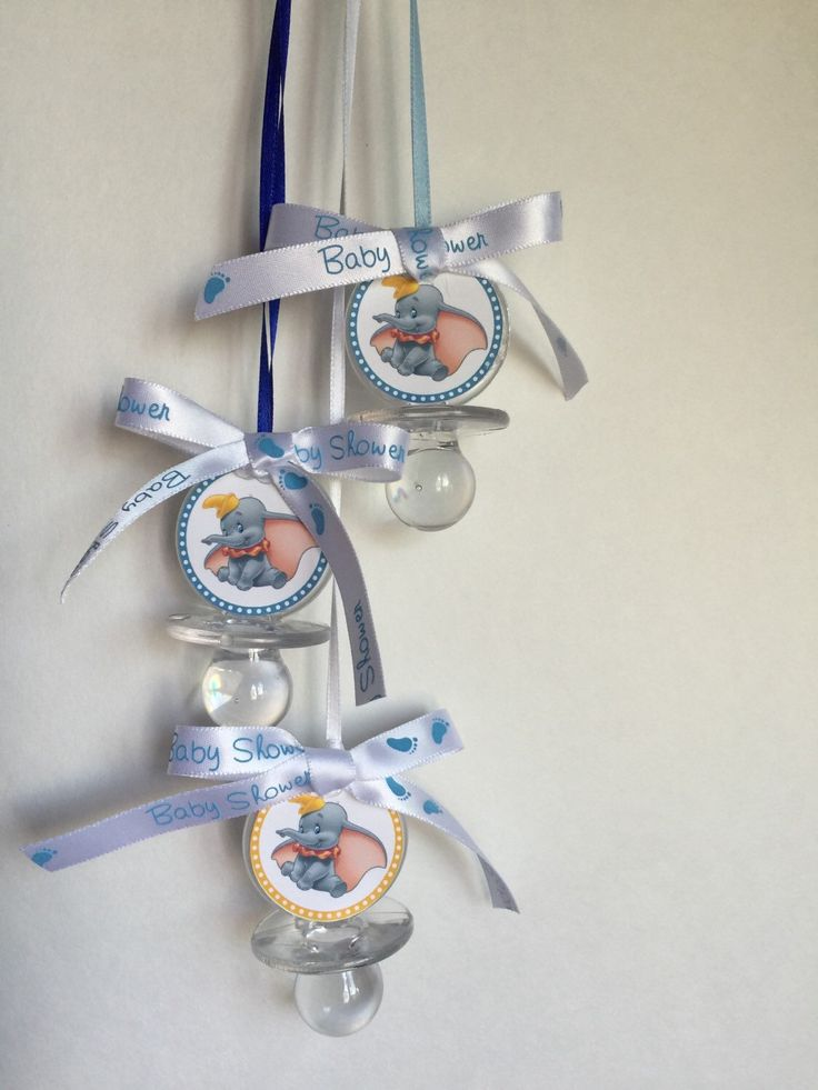 Dumbo baby shower pacifiers perfect for baby shower games or decor! Love dumbo!!