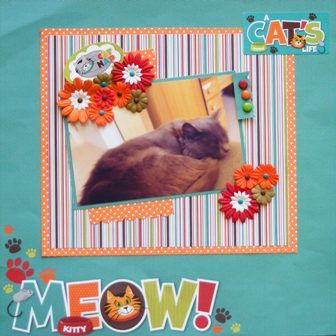 Cat page created with Reminisce Signature Series by Scralet for My Scrappin' Shop.