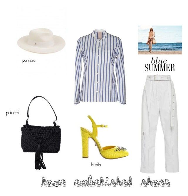 """Vacation mood"" by anna-xiao-c on Polyvore featuring Le Silla, (+) PEOPLE, Panizza, embellishedshoes, Falorni and panizza"