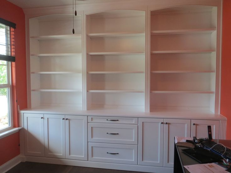 built in home office bookcases photos | Custom Home Office Built-in Shelves and Cabinets