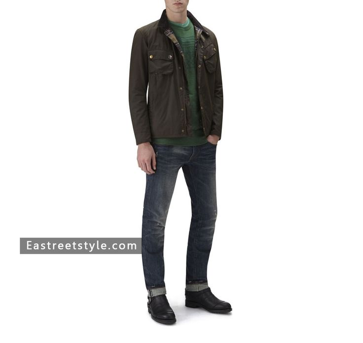 Men Barbour Wax 9665 Jacket at www.eastreetstyle.com