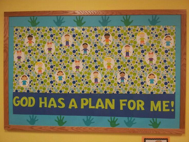 Classroom Decor Preschool ~ God has a plan for me jeremiah bulletin board