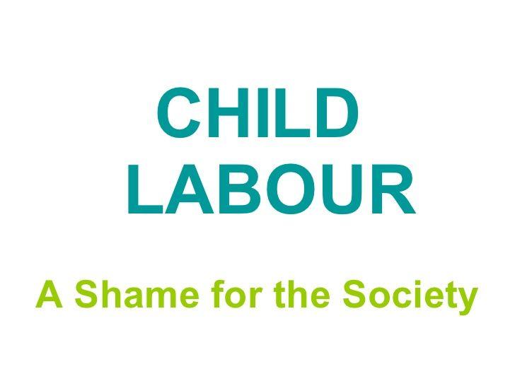 essay for child labour