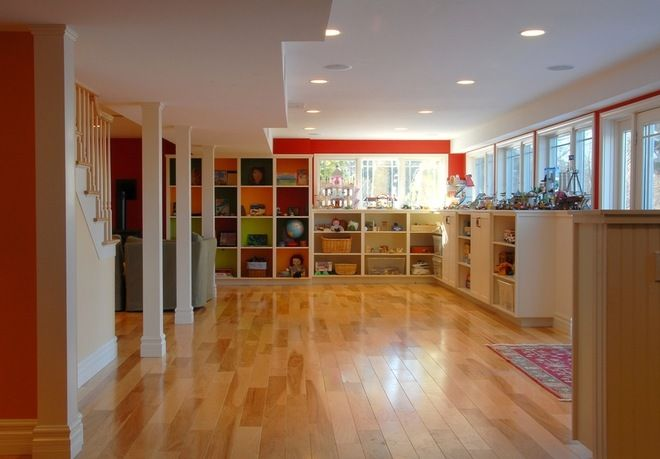 How to Dig Down for Extra Living Space contemporary basement by Peregrine Design Build