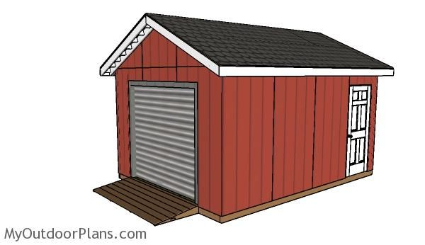 Atv shelter plans outdoor shed plans free pinterest for Rv storage building plans free