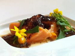 Recipes.ca: Wild Lake Trout, Sea Buckthorn, Wild Watercress, Sea Weed Butter