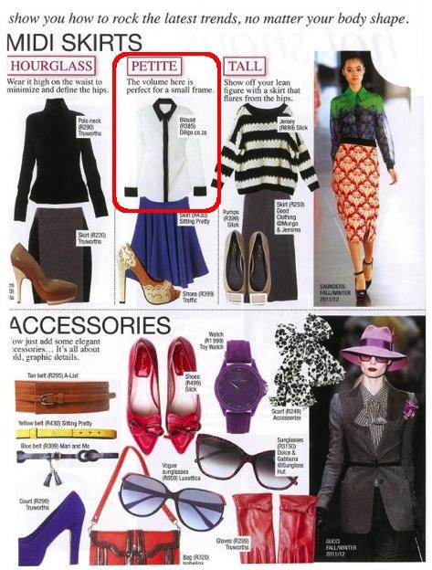 Diligo black and cream colour block shirt featured in FAIRLADY Magazine