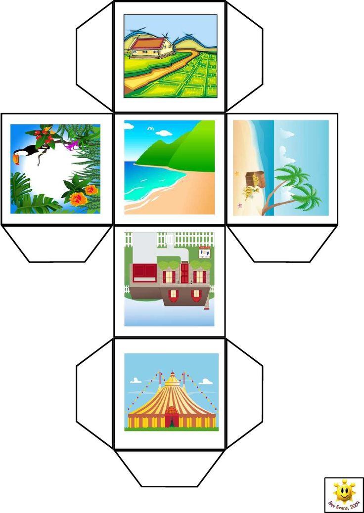 idea para inventar cuentos ( existen varios modelos : http://fr.scribd.com/doc/69779417/Story-Cubes)