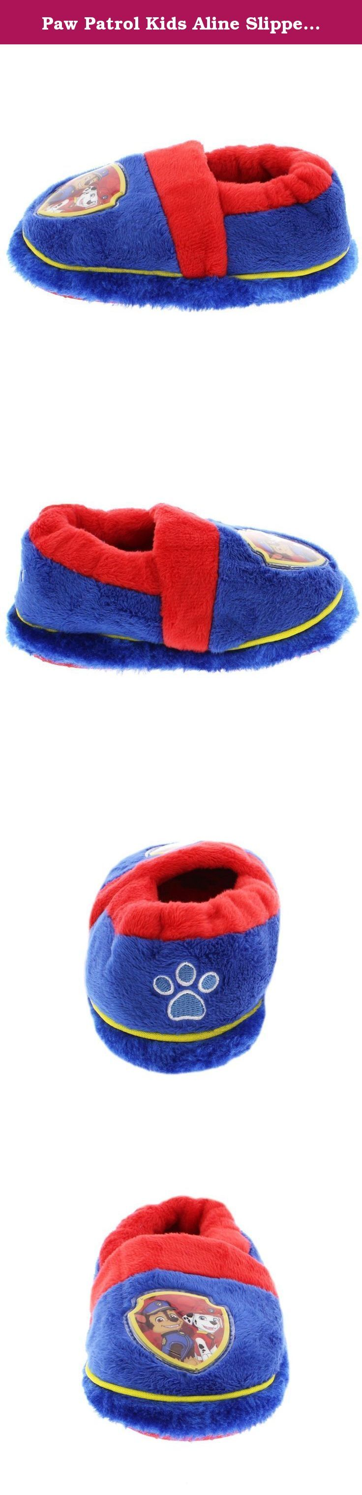 Paw Patrol Kids Aline Slippers (11-12 Little Kid M, Badge Blue). Paw Patrol is on a roll! Keep your little one's feet warm and cozy with these Nick Jr. Paw Patrol toddler and little kids Aline slippers! These Paw Patrol Aline slippers feature slip resistant soles, a soft plush texture, and images of your favorite rescue pups: Chase, Marshall, Skye, and Everest! The Bow Pink/Blue slipper contains a 3D bow! It's the perfect footwear choice for any fan of Nickelodeon's Paw Patrol! Choose one…