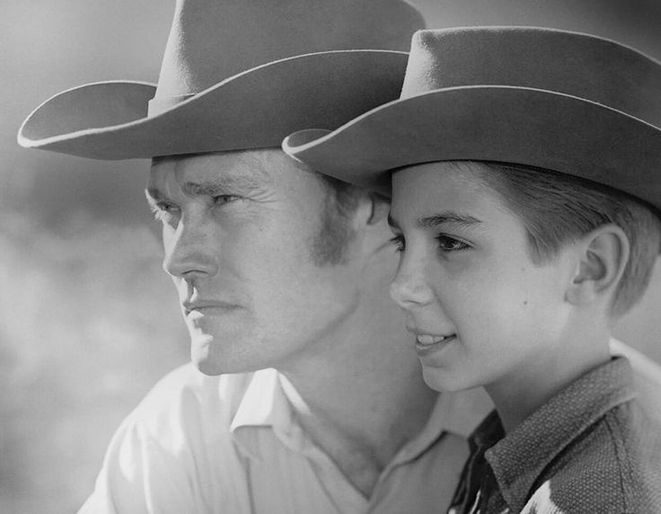 Chuck Connors, Johnny Crawford - The Rifleman - 8 1/2 X 11
