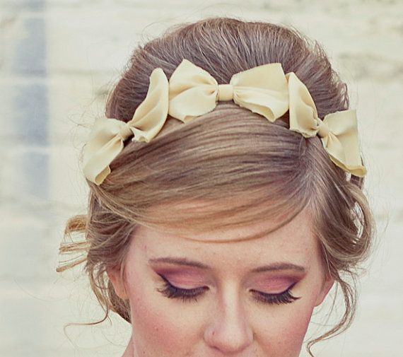 Three little bows headband for adults by BeSomethingNew on Etsy, $25.00