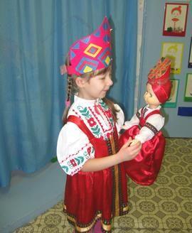 Русский костюм занятия с дошкольниками