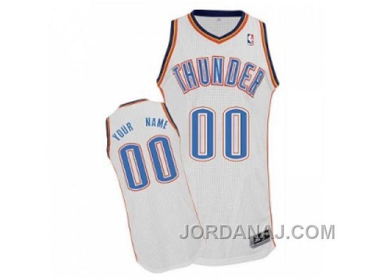 669711557 ... Oklahoma City Thunder Custom White Home Jersey Buy Russell Westbrook  Oklahoma City Thunder New Swingman ...