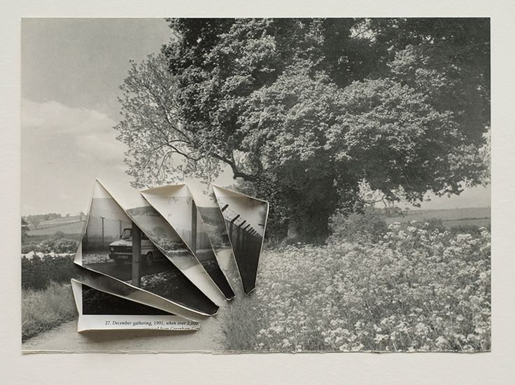 Perimeter (2011) book pages  33 x 39cm framed - Collage  - Abigail Reynolds