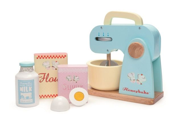 Every budding baker will adore playing with this Le Toy Van 'Honeybake' Mixer Set.