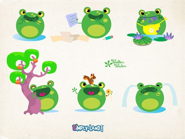 The Simplies - Simply Land Characters on Behance