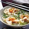 Miso Soup with Sweet Potato Dumplings: Miso Soups, Food, Potatoes Dumplings, Cooking, Dumplings Recipes, Vegetarian Meals, Sweet Potatoes, Vegetarian Soups, Vegetarian Recipes