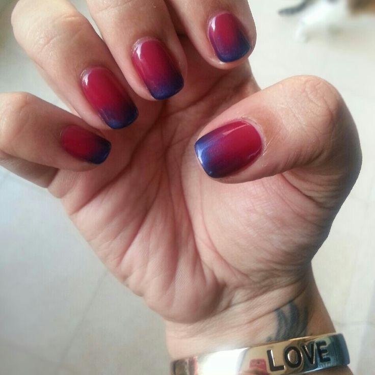 Ombre nails by CND Shellac Dubai | Beauty Junkie | Pinterest