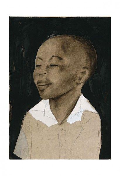 Haïti * Rogé * Boy * Portrait * Acrylic * Graphite * Collage * Illustration * Art