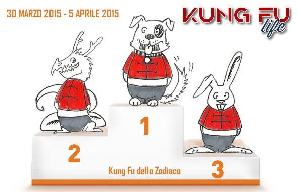 Kung Fu dello zodiaco. Settimana dal 30 marzo al 5 aprile 2015. Non sará il polline a fermarci, o le pioggerelle monsoniche da clima tropicale che si sta impossessando, al massimo il cambio d´ora ci rallenterá, ma noi abbiamo il Kung Fu che scorre nelle vene! Ormai conoscete la procedura: inquadrate il vostro segno dell´oroscopo cinese e verificate il vostro tasso di Kung Fu nel sangue! http://www.kungfulife.net/blog/kung-fu-dello-zodiaco-settimana-dal-30-marzo-al-5-aprile/