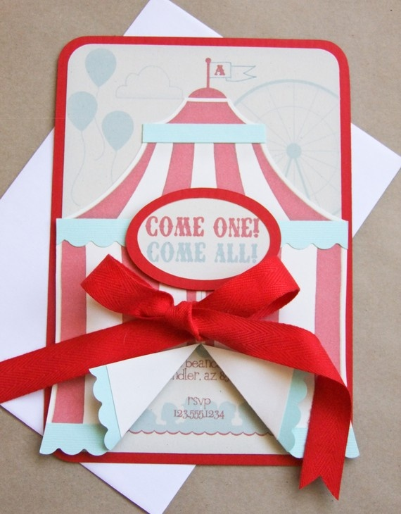 SUCH cute party invites love a good circus party