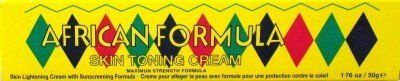 African Formula Skin Tone Creme 1.76 oz. by African Formula. $0.99. Helps give your Skin a Lighter, Even Complexion.. Excellent for Fading Down Liver Spots, Freckles and Sun Blemishes.. Contains a Sunscreening Formula that will Protect Skin from the Sun's Harmful Rays.. Also helps in Removing Spots, Acne and Dark Pigment.. Skin lightening cream.
