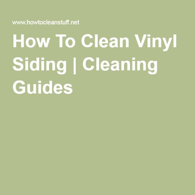 how to clean vinyl siding with vinegar