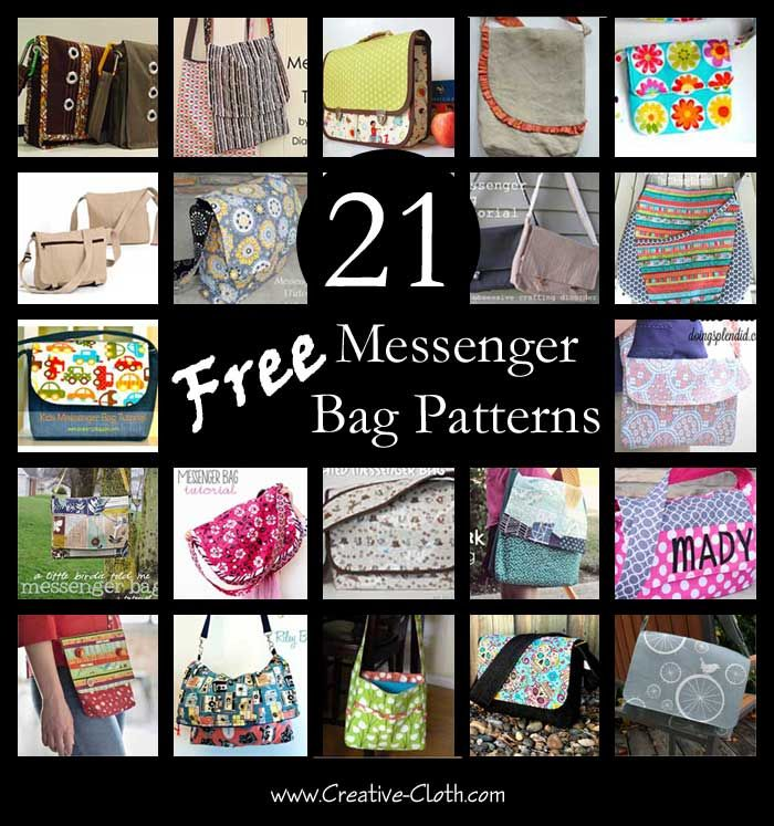If you love the function and versatility of messenger style bags, pick your favorite from these free messenger bag patterns and tutorials and get sewing! M