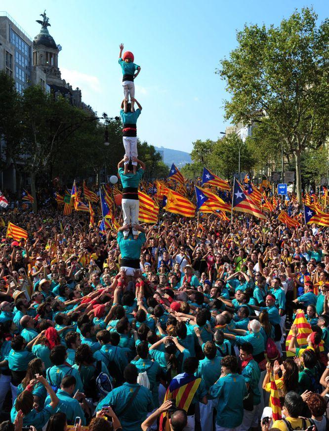 La Diada. Castellers de Vilafranca.