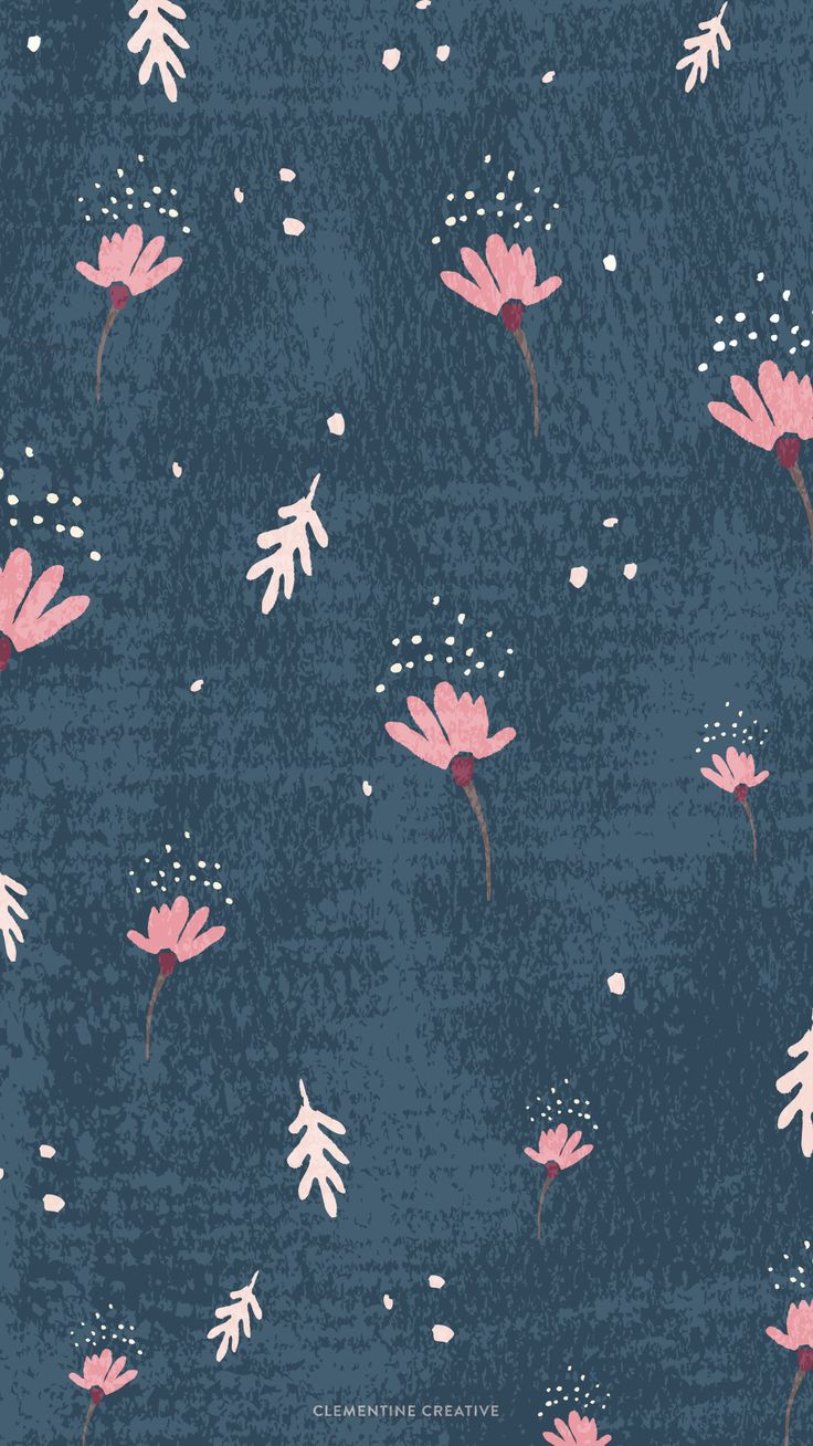 dainty-falling-flowers-iphone-navy.png (1242×2208)