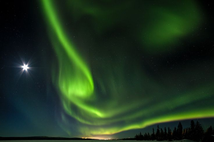 Northern Lights in Kiruna - Cold night, nice sky