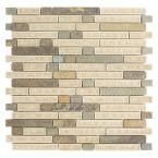Jeffrey Court Majestic Blend 12 in. x 12 in. x 8 mm Glass and Stone Mosaic Wall Tile-99700 - The Home Depot