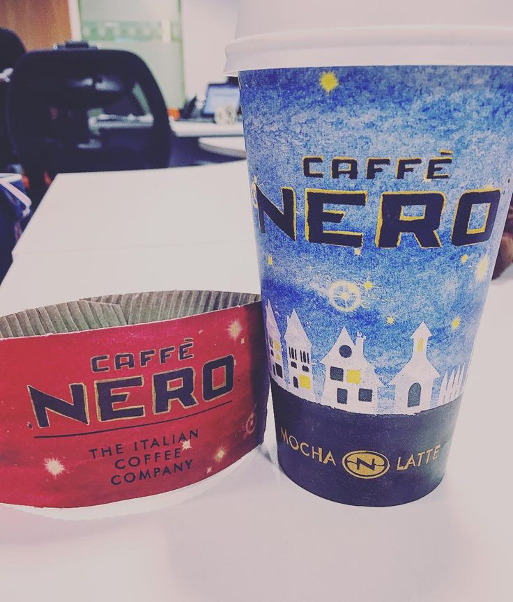 Once again Caffe Nero does it better than Starbucks #coffee #mondaymorningcoffee #caffeenero #starbucks #nero #americano #christmascups #takeawaycoffee #redcup #christmas by mcibty