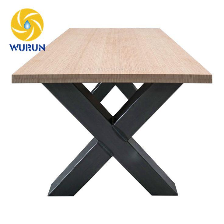 customize x shape cast wrought iron furniture tea table legs