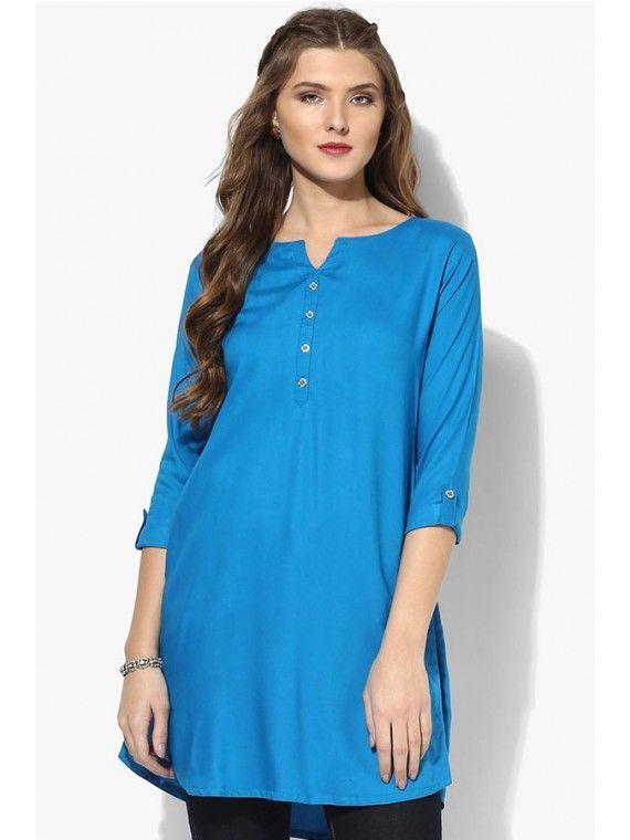 Glittering Sky Blue Online Tunic