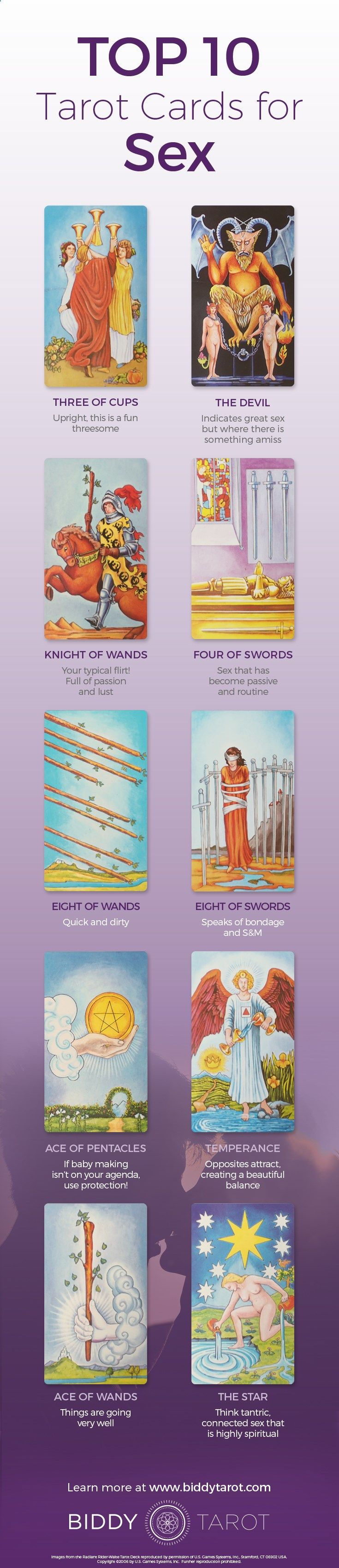 Things are about to heat up when these #Tarot cards appear. Expect things to get #fun and frisky. Download your free copy of my Top 10 Tarot Cards for love, finances, career, life purpose and so much more at www.biddytarot.co... It's my gift to you!