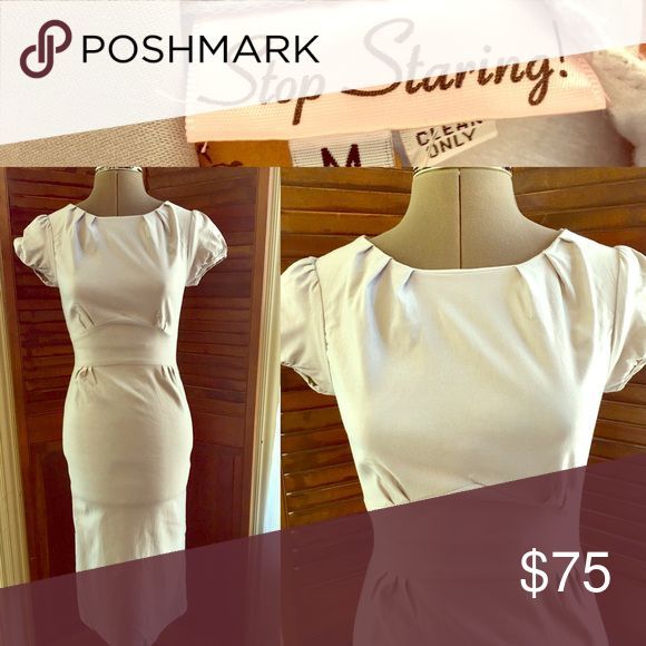 Stop Staring Dress Stop Staring dress in excellent condition! This brand a a celebrity favorite and very classy! Material is stretchy but form fitting. Stop Staring Dresses