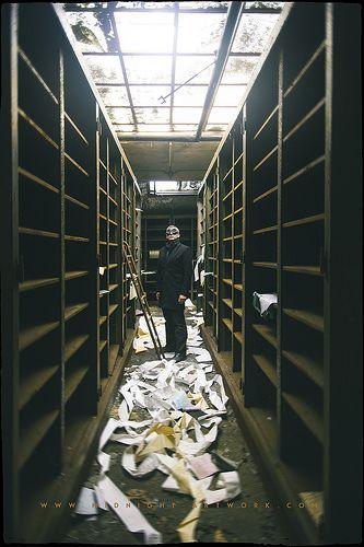 The Archivist by Midnight - digital, via Flickr
