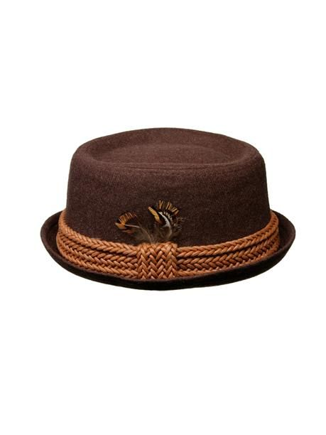 Fore Axel And Hudson - Brown Flannel Pork Pie Hat