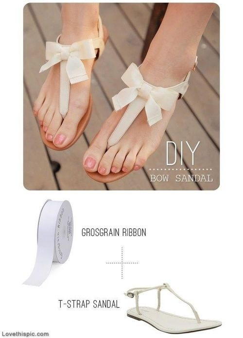 55 best diy shoes images on pinterest craft ideas creative ideas diy bow sandals materials grosgrain ribbon here try white or oyster old navy sandal here or mia sandal here steps tie a bow with the grosgrain solutioingenieria Choice Image