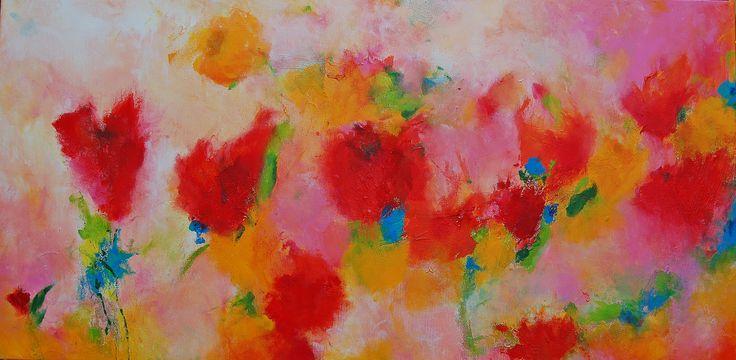 Sentiment de printemps III, acrylic, mixed media
