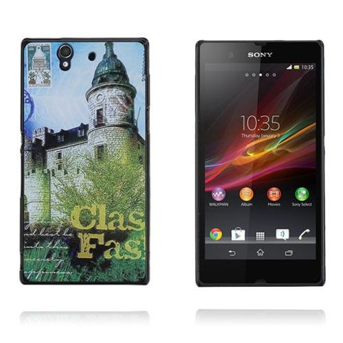 Postcard (Green Castle) Sony Xperia Z Case